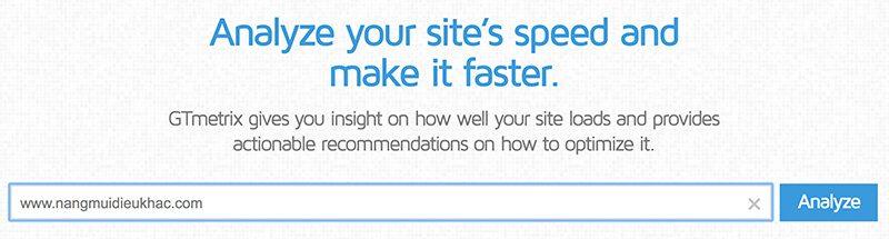 Để kiểm tra tốc độ trang của bạn, bạn có thể sử dụng một công cụ như GTmetrix