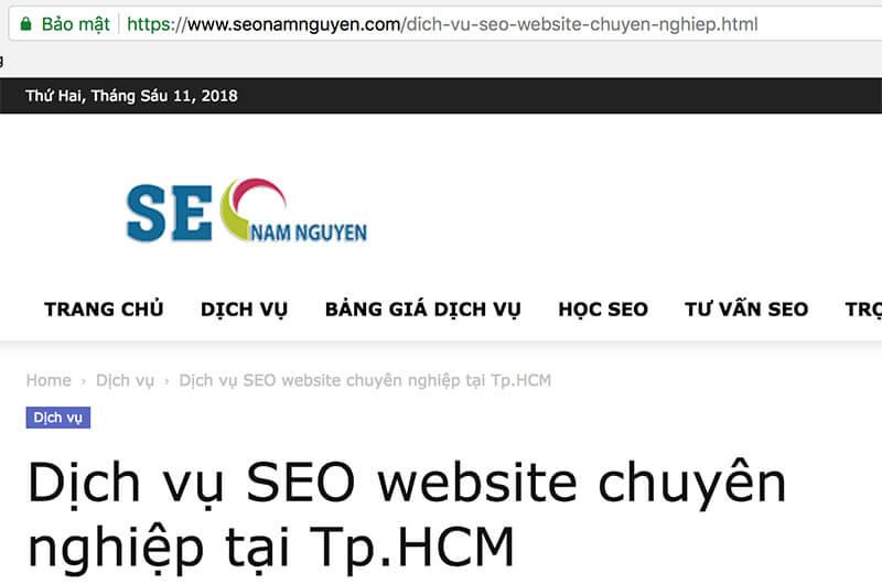 Sử dụng ssl sẽ giúp cho vấn đề SEO từ khóa lên Top Google sẽ có được nhiều ưu ái hơn