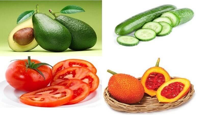Để giúp đôi mắt chóng bình phục sau nhấn mí nên bổ sung nhiều rau củ quả