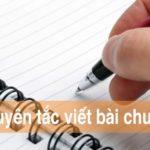 Các nguyên tắc cơ bản để viết bài chuẩn SEO