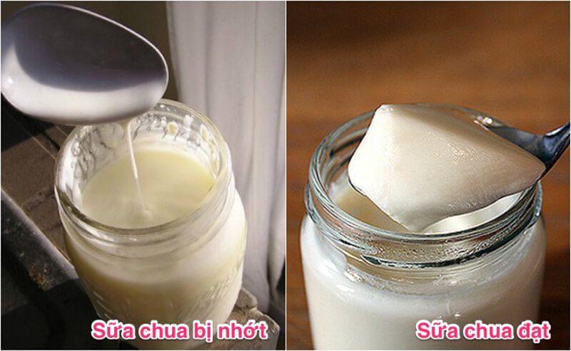 Sữa chua bị nhớt