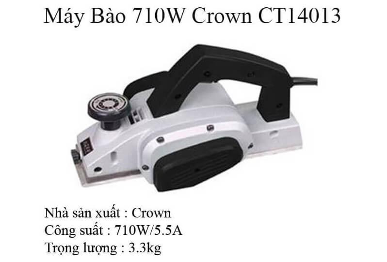 Thông tin về sản phẩm máy bào 710W Crown CT 14013