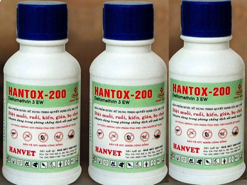 Hantox- 200 là loại thuốc chuyên dụng để diệt bọ chét