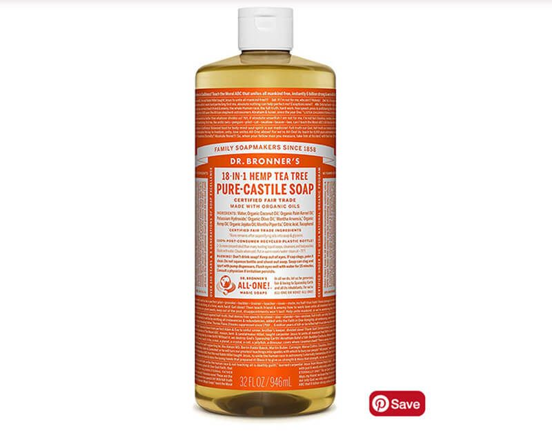 Dr. Bronner's 18-in-1 Hemp Tea Tree Pure Castile Soap