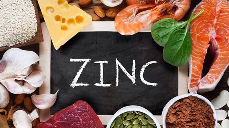 Chế độ ăn uống phong phú với thực phẩm chứa kẽm