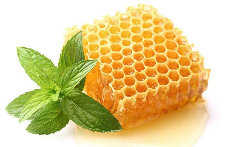 Lá bạc hà và mật ong trị mụn