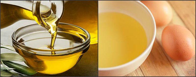 Lòng trắng trứng với dầu ô liu