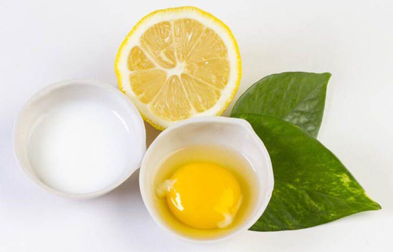 Lòng trắng trứng với chanh