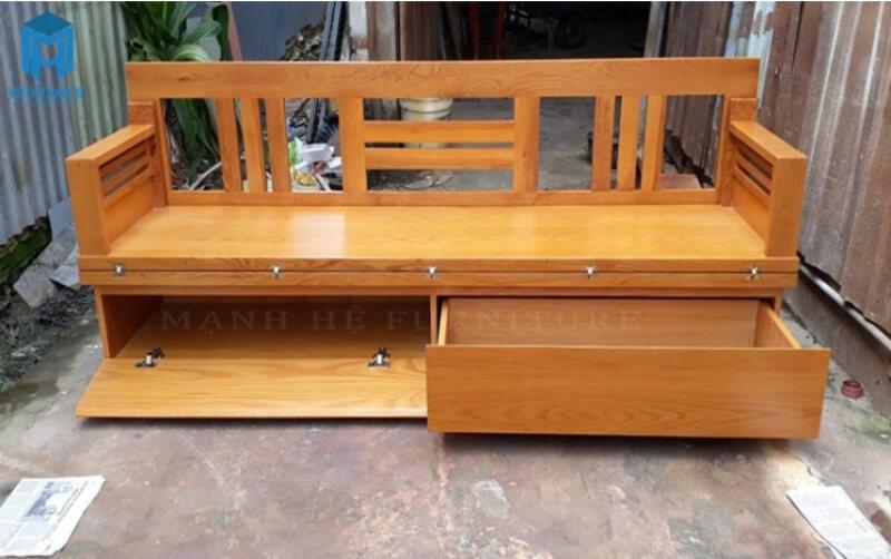 Với mẫu ghế này bạn còn có thêm không gian để cất thêm đồ đạc giúp căn nhà thêm phần gọn gàng.