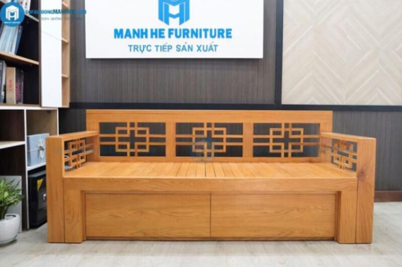 Sofa giường gỗ đa năng là đồ nội thất thông minh tiện nghi với thiết kế hiện đại