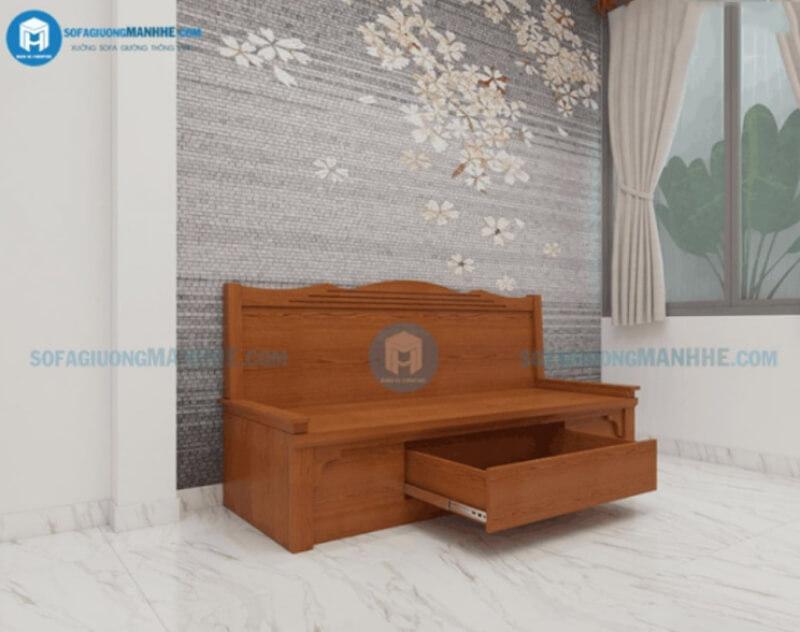 Mẫu ghế sofa đa năng kéo thành giường SG01 màu cánh gián đậm