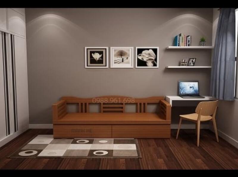 Mẫu ghế sofa đa năng là lựa chọn phù hợp và thông minh cho phòng khách diện tích nhỏ